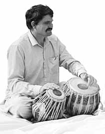 David Courtney and tabla